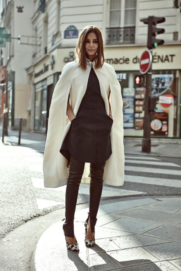 la-modella-mafia-Burberry-cape-3.1-phillip-lim-dress-Bassike-pants-Celine-shoes-via-vogue.au_