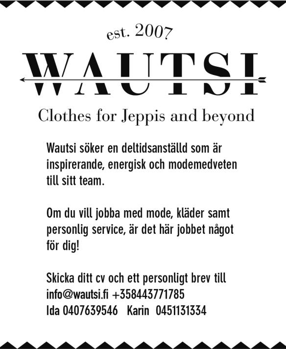 Wautsi annons 82x100 mm